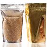16oz Gold Stand-Up Zipper Bag